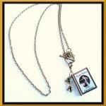 Miniature Book Charm Necklace - Dic..