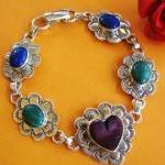Vintage Heart Link Sterling Silver ..
