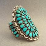 Vintage Turquoise Cluster Sterling ..